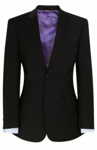 Brook Taverner Marynarka męska, AVALINO o kroju Black Tailored fit jacket