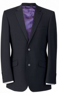 Brook Taverner Marynarka męska, AVALINO o kroju Charcoal Pinstripe Tailored fit jacket