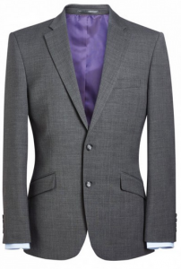 Brook Taverner Marynarka męska, jasnoszara AVALINO o kroju Light Grey Tailored fit jacket