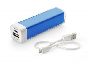 Power bank LIP 2600 mAh niebieski